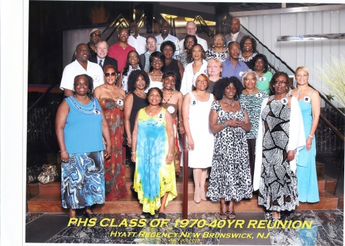 Official original PHS Class of 1970 40th anniversary Reunion Cruise Photo (Before the classmates boarded the bus to go o