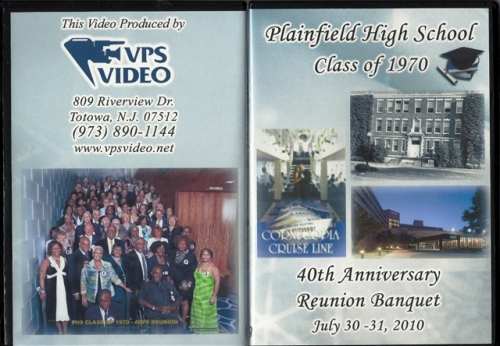 PHS Class of 1970 40th Anniversary Reunion DVD Cover.